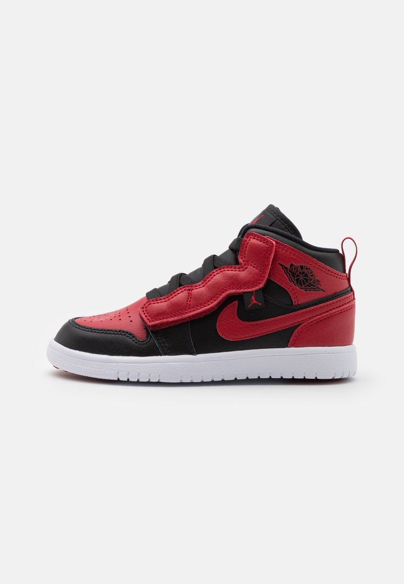 Jordan - 1 MID ALT UNISEX - Basketball shoes - black/gym red/white