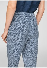 s.Oliver - BROEKEN - Trousers - blue embroidery - 5