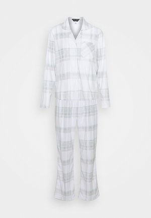 CHECK BRUSHED REVERE SET - Pyjamas - light grey