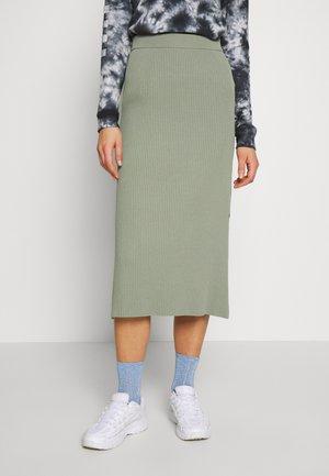 OCTAVIA SKIRT - Pouzdrová sukně - dark dusty green