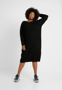 Glamorous Curve - OPEN BACK INSERT DRESS - Jumper dress - black - 1