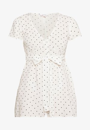 POCA DOT PLAYSUIT - Mono - ivory