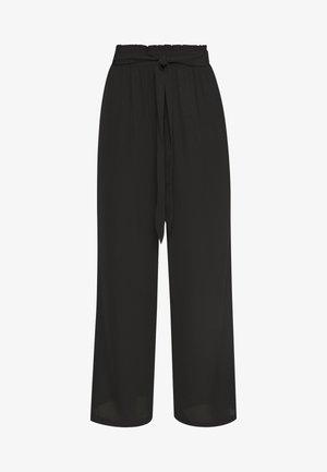 VITORI TIE BELT PANT - Trousers - black