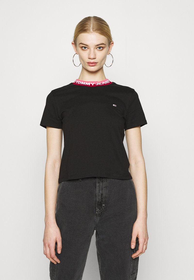 Tommy Jeans - BRANDED TEE - T-shirt con stampa - black
