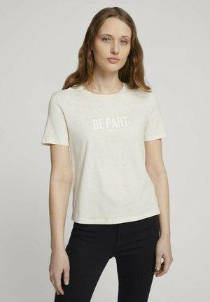 Camiseta estampada - soft creme beige