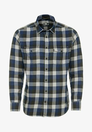 MIT ZWEI AUFGESETZTEN TASCHEN - Shirt - blue