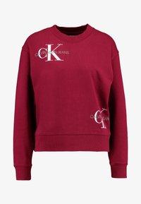 Calvin Klein Jeans - MONOGRAM OVERSIZED - Sweatshirt - beet red - 4