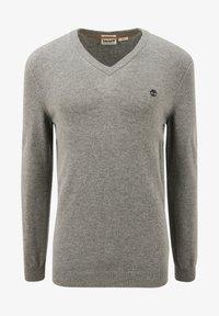 Timberland - Stickad tröja - medium grey heather - 5