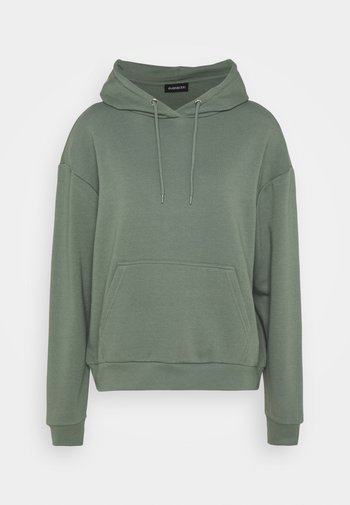 BASIC - Oversized hoodie with pocket - Jersey con capucha - green