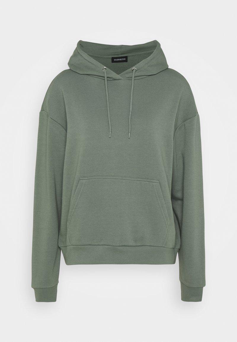 Even&Odd - BASIC BOXY OVERSIZED HOODIE - Bluza z kapturem - green