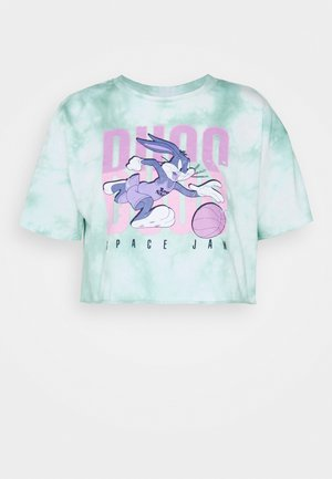 SPACE JAM TYE DYE BUGS CROP TEE - Print T-shirt - green/white
