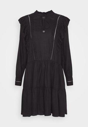 ONLRWANDA LIFE  FRILL DRESS - Day dress - black