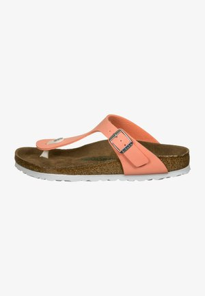 GIZEH  - T-bar sandals - brushed flamingo
