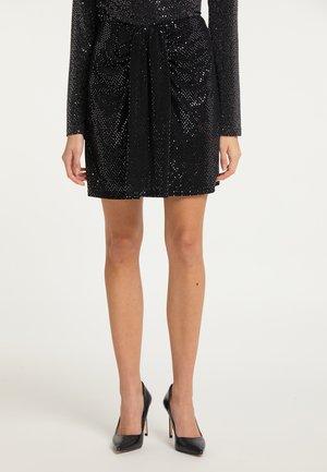 A-line skirt - silber schwarz