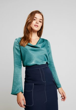 FLARE COWL - Blouse - evergreen