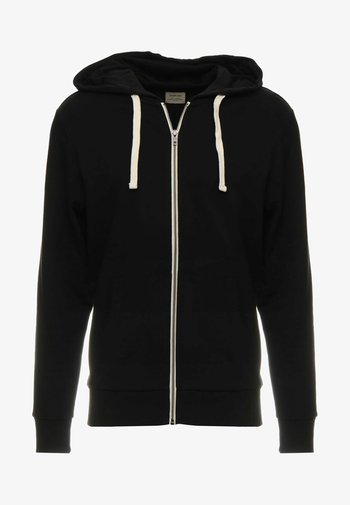 JJEHOLMEN - Zip-up sweatshirt - black/reg fit