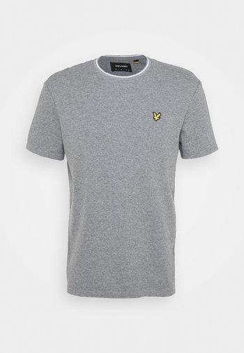 WAFFLE - Basic T-shirt - mid grey marl