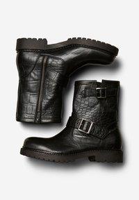 Selected Femme - Cowboy/biker ankle boot - black - 2