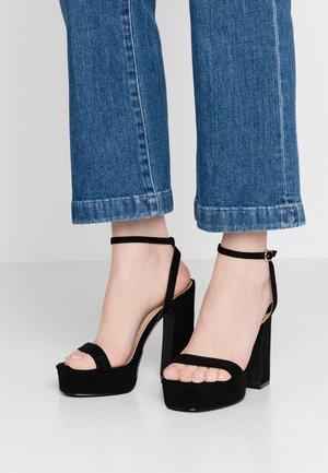 GIANNA - Sandalen met hoge hak - black