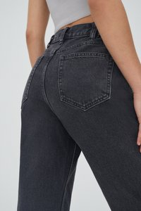 PULL&BEAR - MOM - Jeans relaxed fit - black - 4