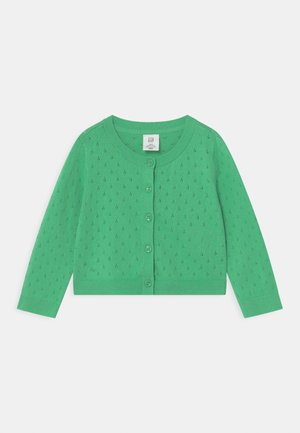TODDLER GIRL  - Strikjakke /Cardigans - parrotfish green