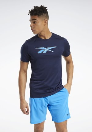 WORKOUT READY GRAPHIC T-SHIRT - T-shirt con stampa - blue