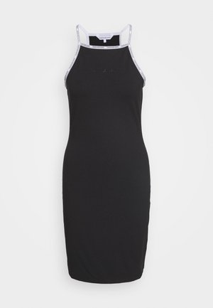 LOGO TRIM TANK DRESS - Jersey dress - black