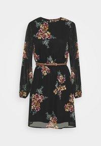 Vero Moda - VMNEWALLIE BELT SHORT DRESS - Vestito estivo - black - 5