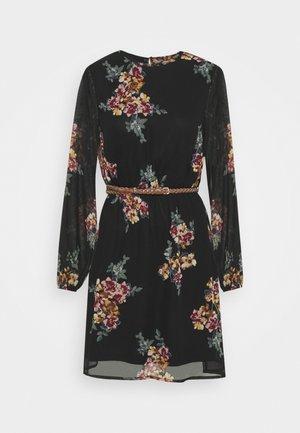 VMNEWALLIE BELT SHORT DRESS - Day dress - black