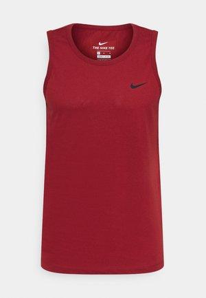 DRY TANK SOLID - Camiseta de deporte - dark cayenne
