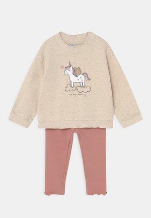 BABY SET - Sweatshirt - beige melange