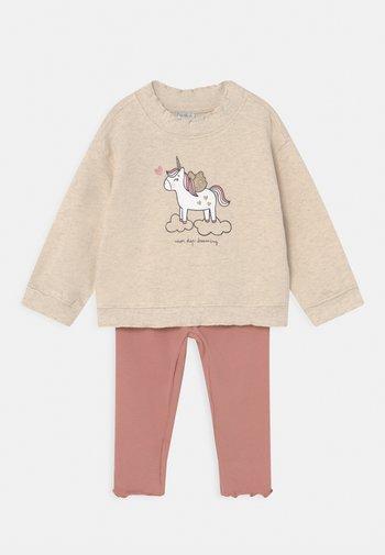 BABY SET - Felpa - beige melange