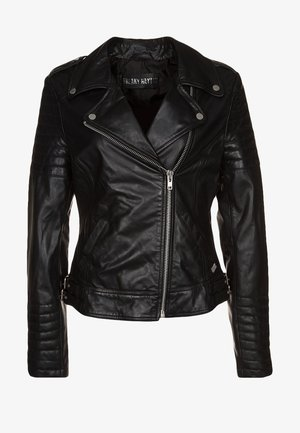 PASSENGER - Leather jacket - black