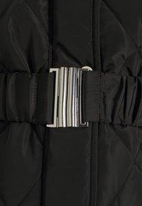Dorothy Perkins Maternity - QUILT LONG LUXE BELTED COAT - Winter coat - black - 2