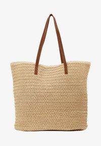 Vero Moda - VMSISSO BEACH BAG - Tote bag - creme brûlée - 4