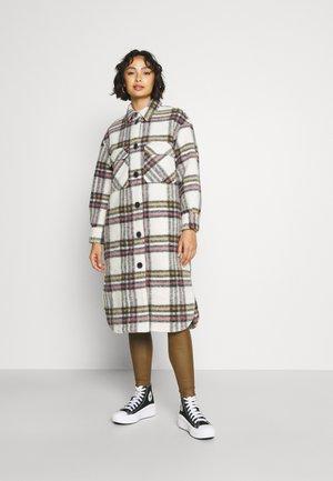 OBJSELENE COAT - Classic coat - cloud dancer/black