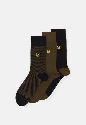 SCOTTY 3 PACK - Socks - dark olive/black