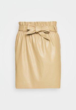 VMAWARDBELT SHORT COATED SKIRT - A-line skirt - beige