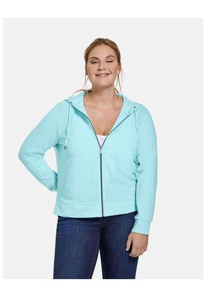 Sweater met rits - crystal blue