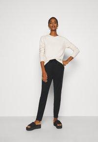 Vero Moda Tall - VMEVA LOOSE STRING SOFT PANT  - Trousers - black - 1