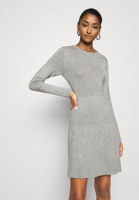 Vila - VIBOLONSIA - Jumper dress - light grey melange - 3