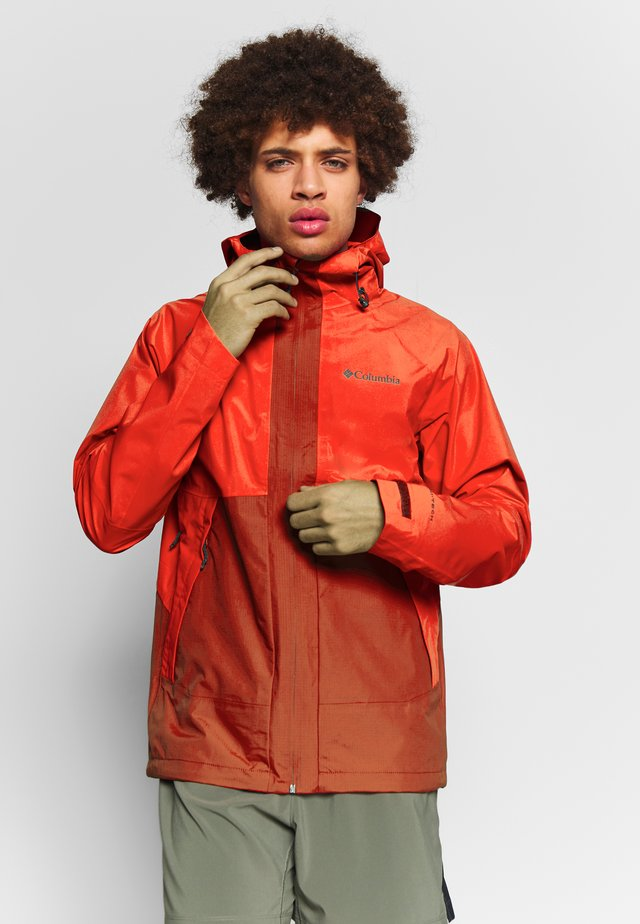 EVOLUTION VALLEY JACKET - Giacca hard shell - carnelian red/wildfire