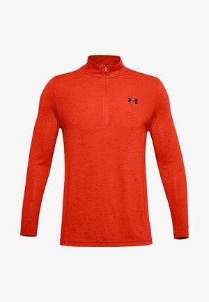 SEAMLESS 1/2 ZIP - Long sleeved top - ultra orange