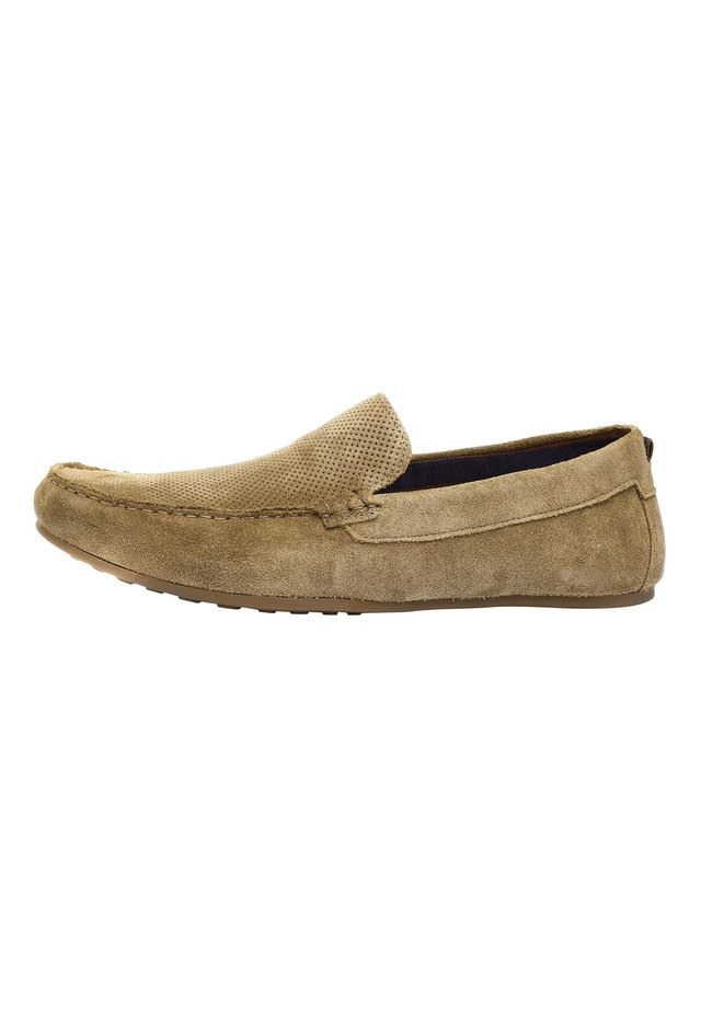 TAN PERFORATED DRIVERS - Moccasins - beige