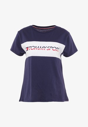 LOGO DRIVER TEE  - Print T-shirt - sport navy