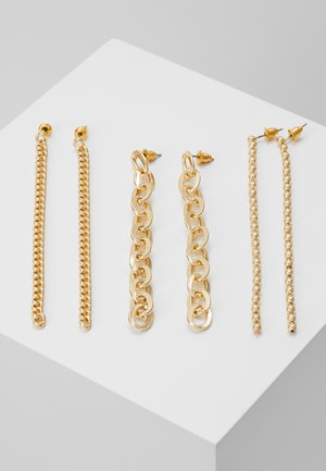 CHAIN DROP 3 PACK - Náušnice - gold-coloured