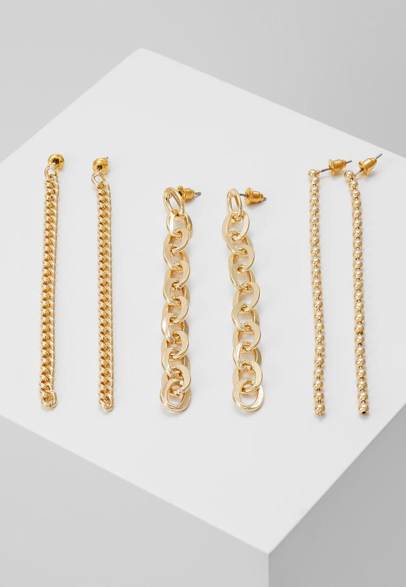 Topshop - CHAIN DROP 3 PACK - Náušnice - gold-coloured