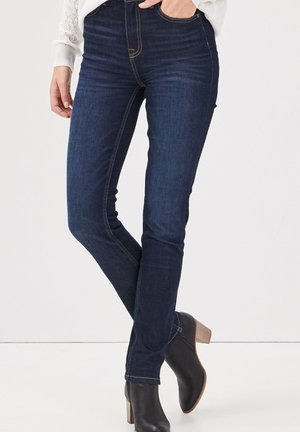 MIT HOHER TAILLE - Slim fit jeans - denim brut