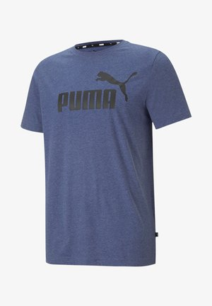 ESS ESSENTIALS HEATHER - Print T-shirt - blau