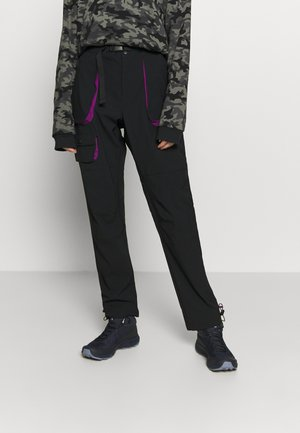 POWDER KEGSTRETCH CARGO - Pantaloni outdoor - black/plum